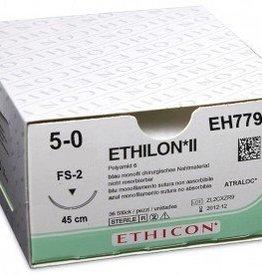Ethicon Ethilon II USP 5/0, 45 cm, FS2 blau, EH7790H, 36 Stück