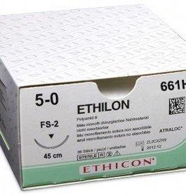 Ethicon Ethilon II USP 5/0, 45 cm, FS2 schwarz, 661H, 36 Stück