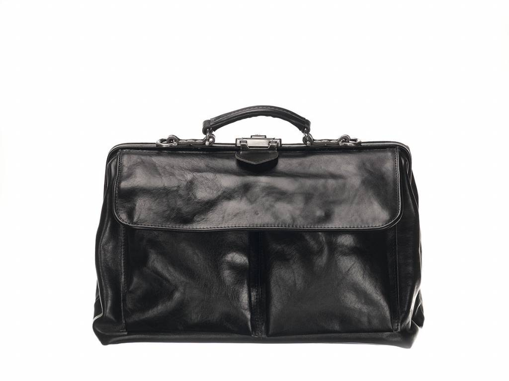 Mutsaers Leather Doctor's Bag - The Doctor - Large with front pockets