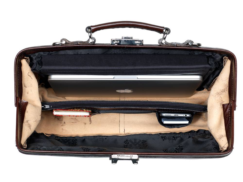 d91c6772878 Mutsaers Leren Laptop tas - The Classic - Medische Vakhandel