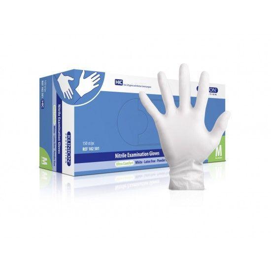 Klinion Nitril - weiß - puderfrei 150 Stück