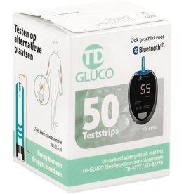 Ht One HT One TD-gluco, Glucose test strips - 50 pieces - Bluetooth compatibility