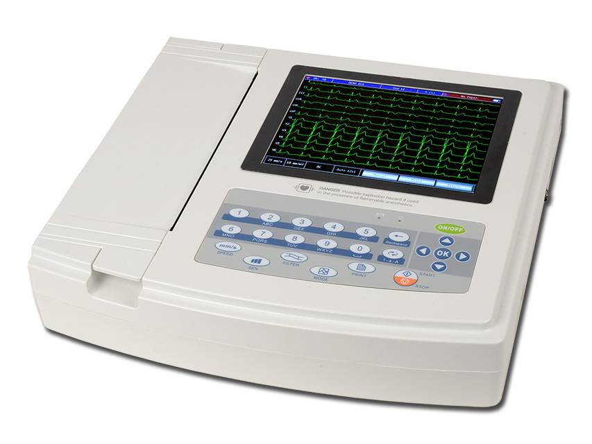 1200G ECG - 12 channel with monitor