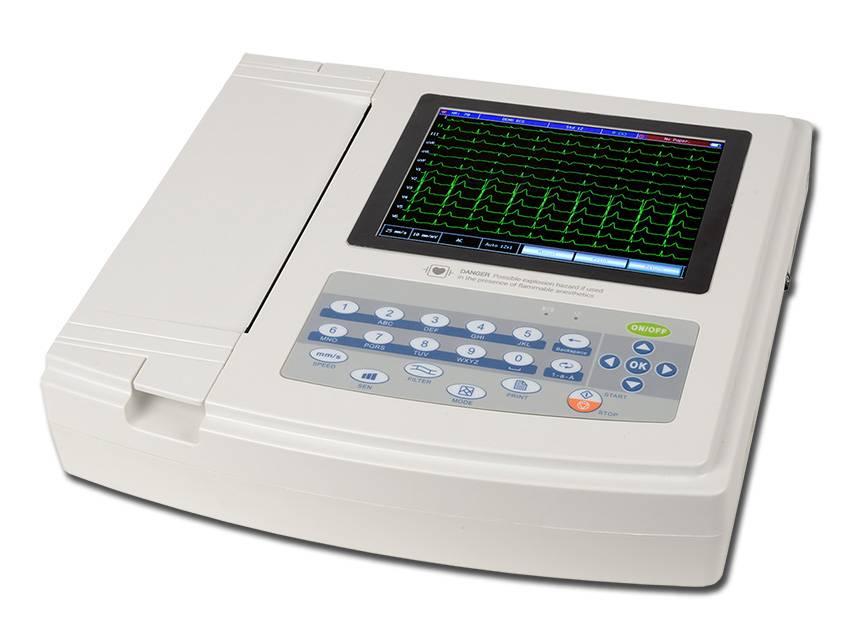 1200G ECG - 12 kanalen met monitor