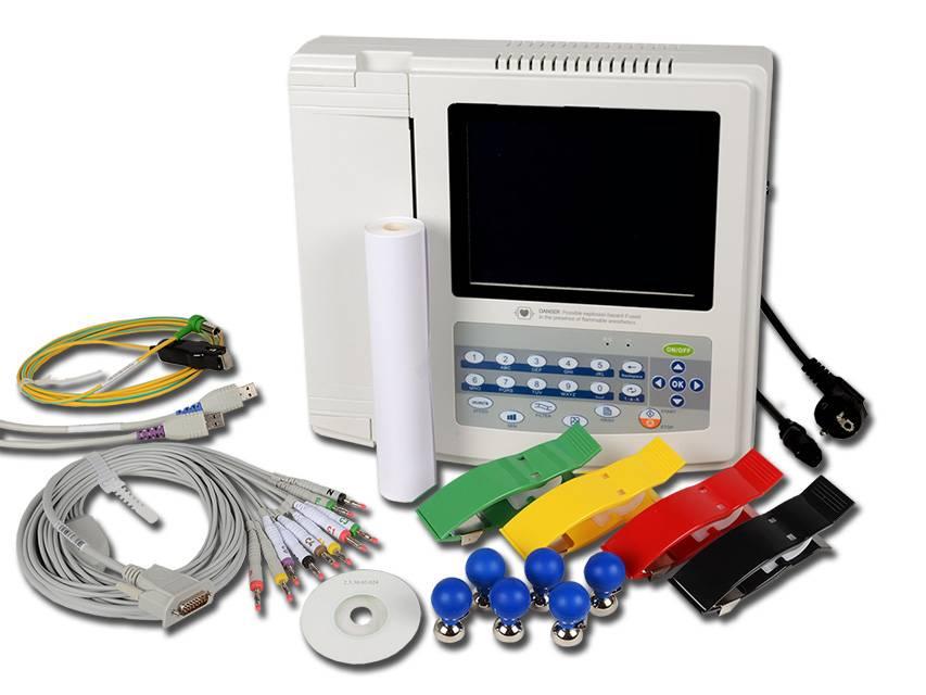 Contec 1200G ECG - 12 kanalen met monitor