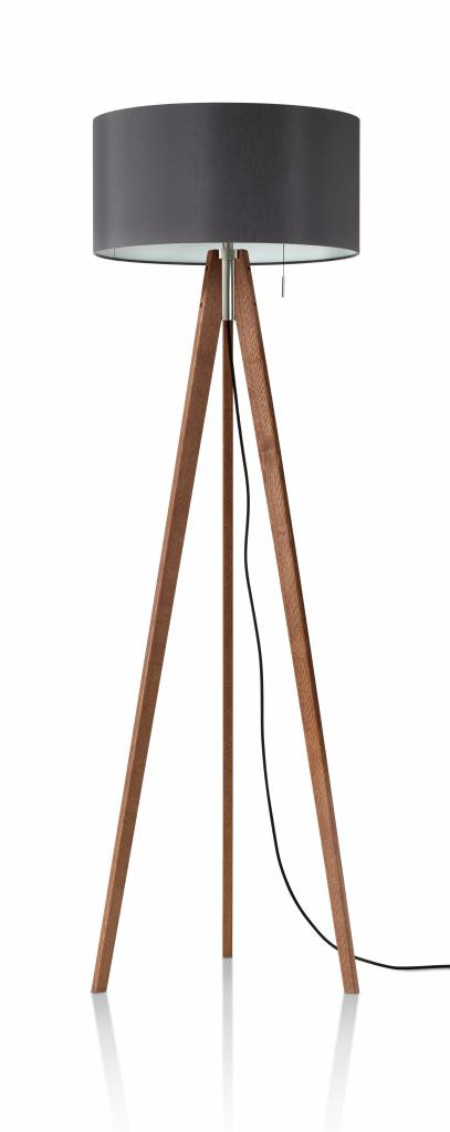 VIVAA FREE  Derungs Vloerlamp Plug & Play biodynamisch daglicht uitkomst voor medici, houten driepoot
