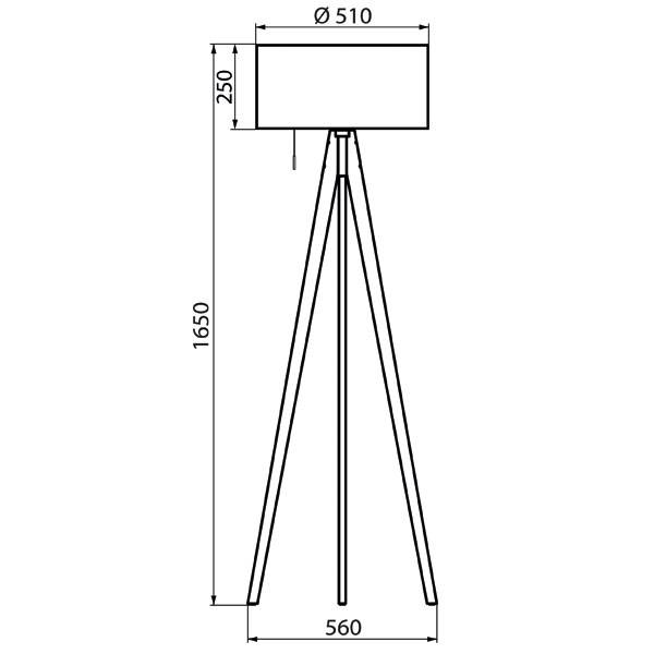 Derungs VIVAA FREE Plug & Play biodynamic daylight solution for medical professionals, wooden tripod