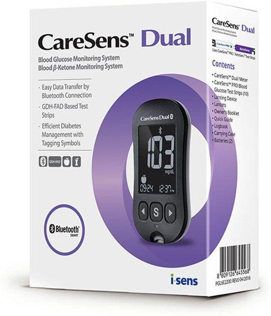 Caresens Dual Messgerät - Starterpaket Blutzucker- & Ketone-Messgerät