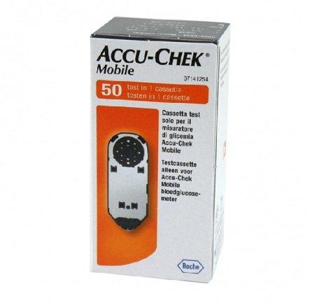 Roche Accu-Chek Mobile test cassette - 1 cassette/50 tests