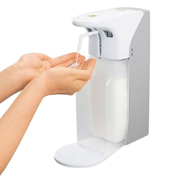 Zeep- en desinfectiemiddeldispenser met sensor