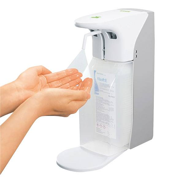 Zeep- en desinfectiemiddeldispenser met sensor - 500/1000 ml