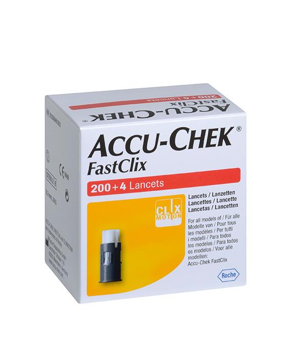 Roche Accu Chek FastClix lancets - 204 pieces