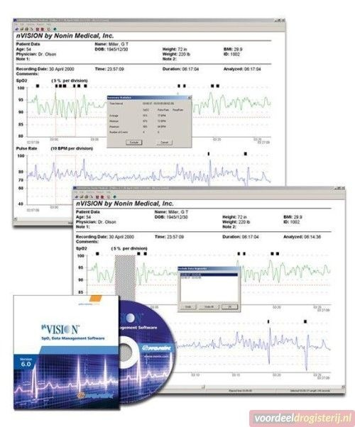 Nonin 3150 WristOx2  Polsmodel pulsoximeter  OSAS slaapnoe
