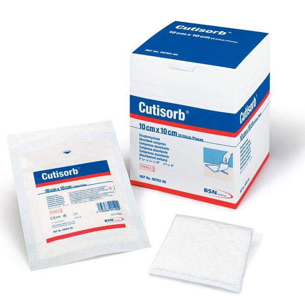 Cutisorb - 10 cm x 10 cm - steril - 25 Stück