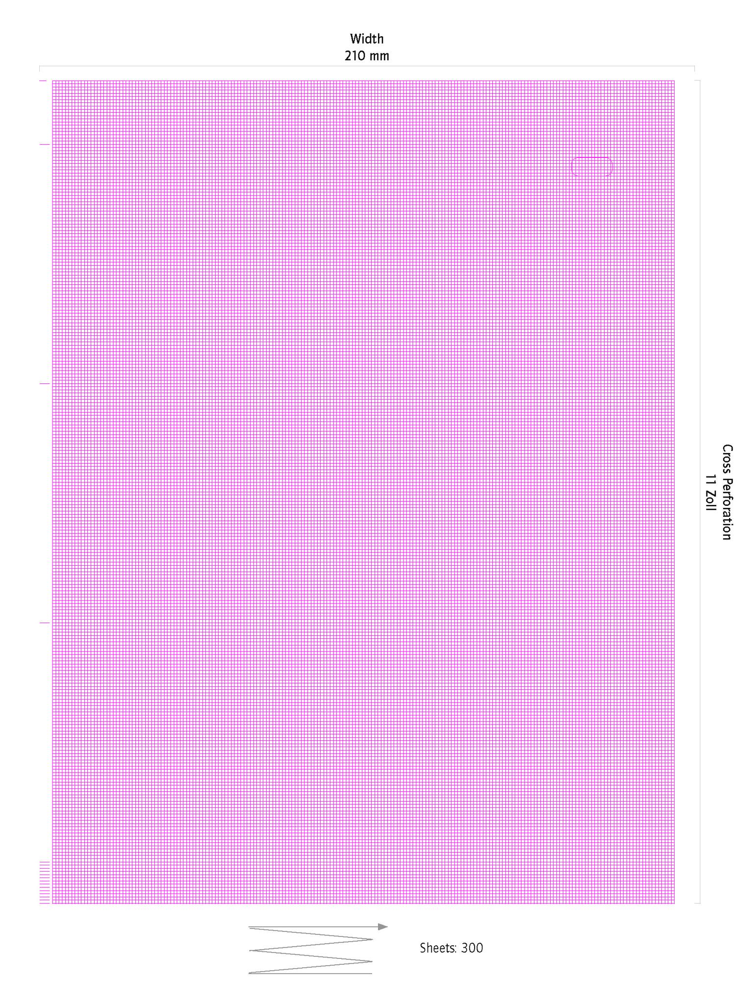 EKG-Papier Carefusion (GE Marquette) Mac5500 210 mm x 280 mm x 300 Seiten, 3 Stück