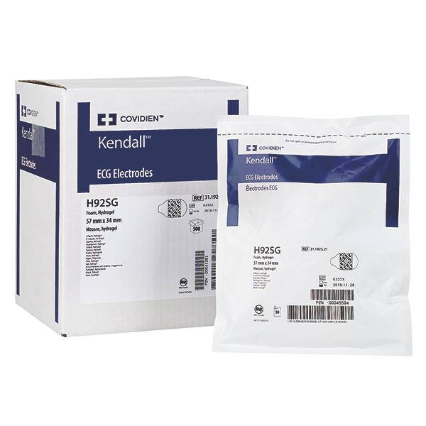 Kendall  *Arbo-Elektroden* met Hydrogel H92SG - 57 x 34 mm - 300 stuks