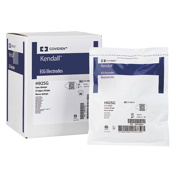 Kendall Kendall * Working conditions electrodes * with Hydrogel H92SG 57 x 34 mm 500 piece
