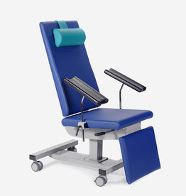 WESSELING BV Blood draw chair 631 - fixed height - with wheels - with armrests