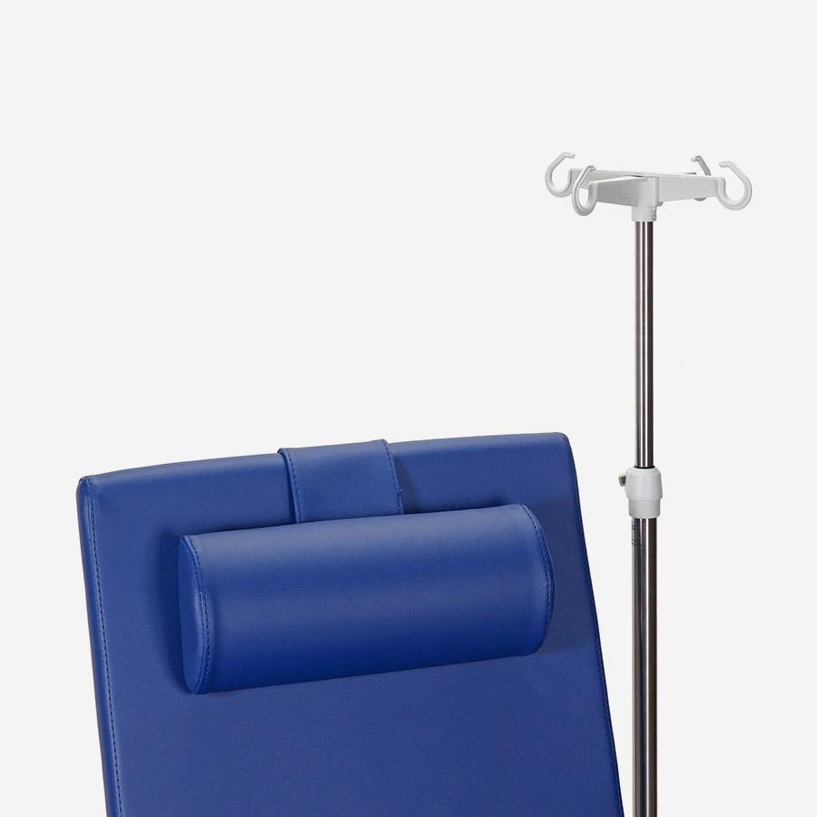 WESSELING BV Blutentnahmestuhl 631 - nicht höhenverstellbar - inkl. Rollen und Armauflagen