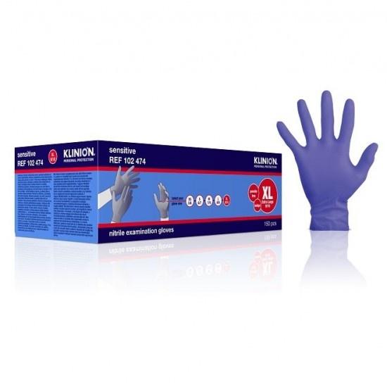 Klinion Nitrile Sensitive handschoenen - paars - XL 9/10 - 150 stuks