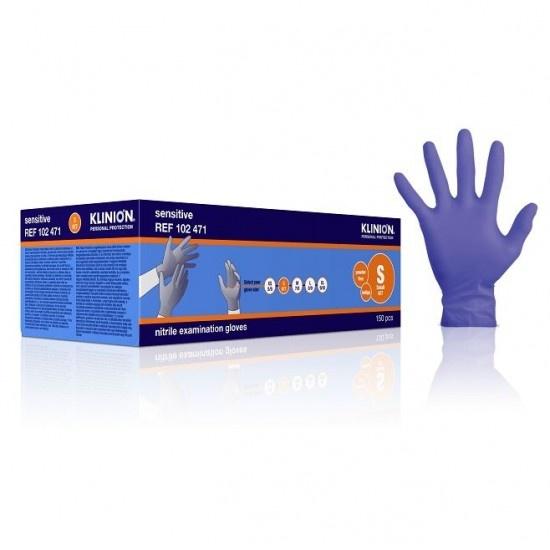 Klinion Nitrile Sensitive handschoenen - paars - S 6/7 - 150 stuks