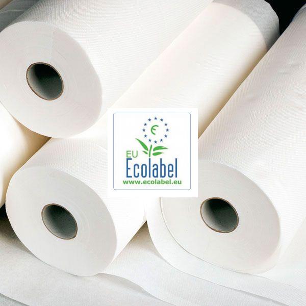 Liegenabdeckung 46 cm x 150 m - 100% hochweißes Cellulose EU Ecolabel Zertifikat