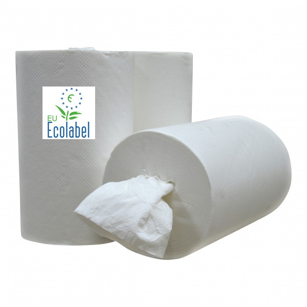 Mini Coreless Centerfeed cellulose towel roll 1 lgs cleaning roll - EU Ecolabel