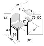 Medische Vakhandel Perfecta - Bloedafnamestoel, prikstoel, Phlebotomy stoel
