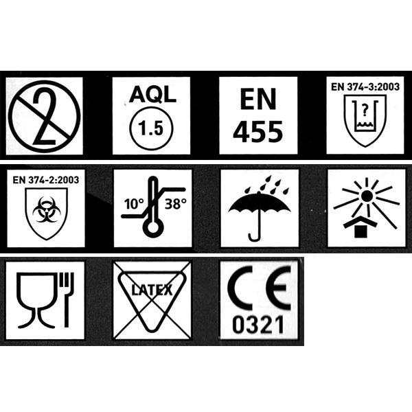 BINGOLD Nitril 35 Einweghandschuhe - schwarz - 100 stück