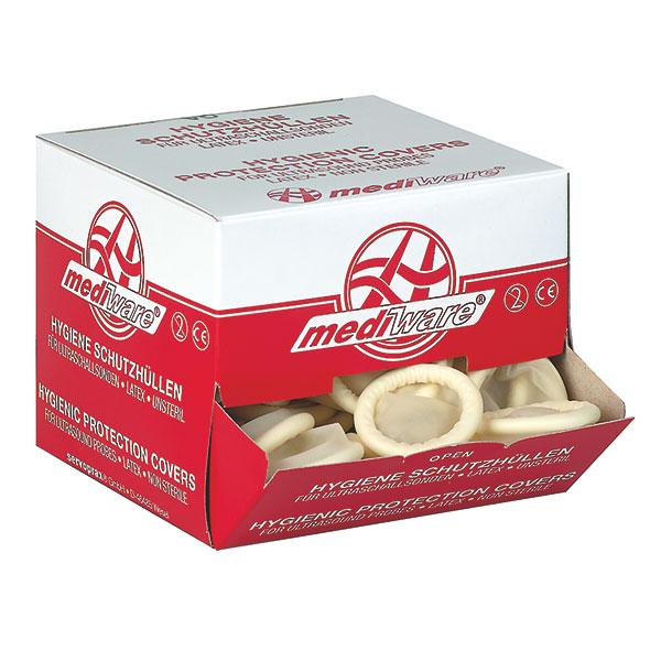 Hygienische Latex-Schutzhüllen - unsteril - leicht gepudert - 28 mm - 144 stück