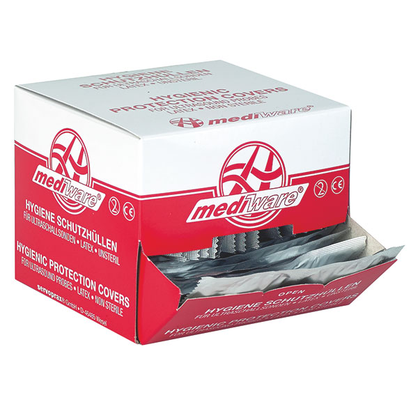 Ultraschall-Schutzhüllen - mit Gleitmittel - 32 mm - 72 Stück