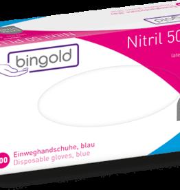 Bingold BINGOLD Nitril 50PLUS Einweghandschuhe - 100 Stück - extra stark - blau
