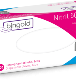 Bingold BINGOLD Nitrile gloves 50PLUS - 100 pieces - extra strong - blue
