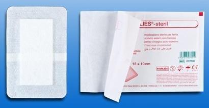Inselpflaster Rudavlies - steril - weiß - 10 x 6 cm - 50 Stück