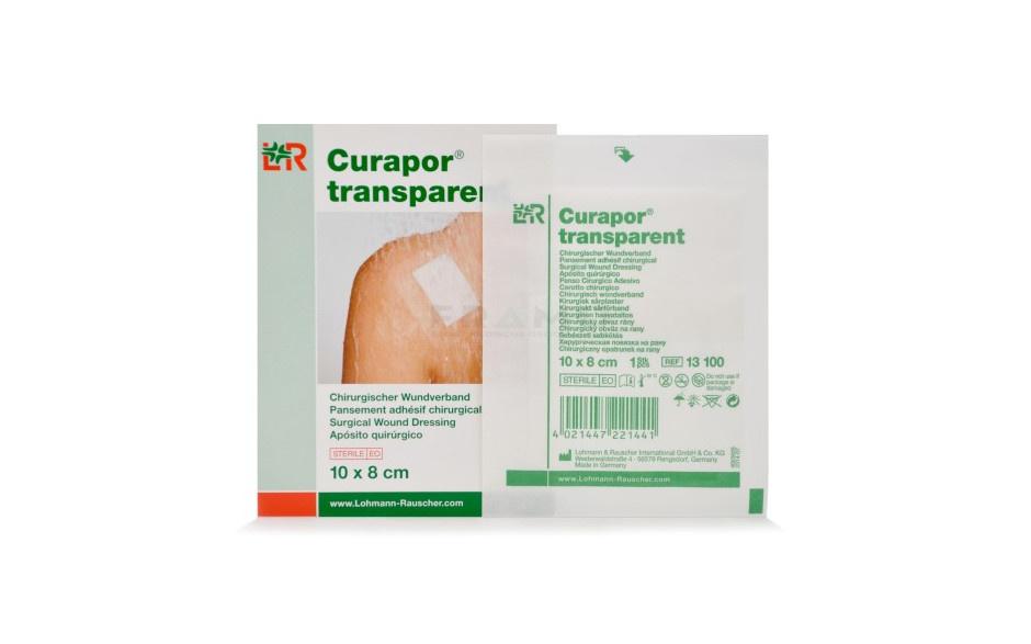 Inselpflaster Curapor - steril - transparent - 10 x 8 cm - 5 Stück