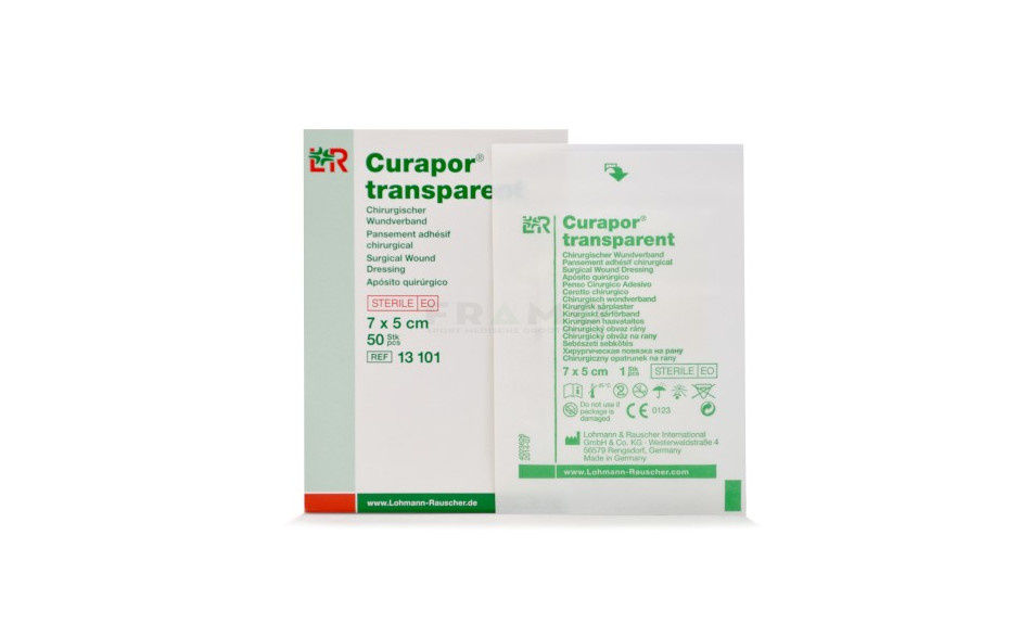 Eilandpleister Curapor - Steriel - Transparant - 7 x 5 cm - 50 stuks
