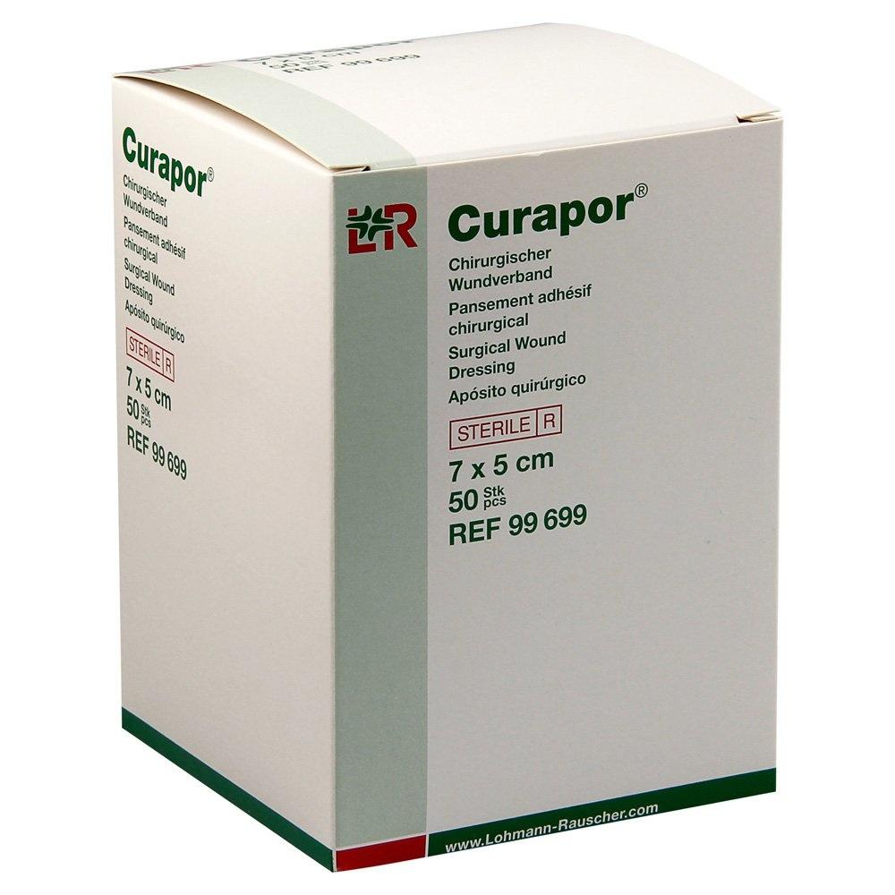 Inselpflaster Curapor - steril - transparent - 7 x 5 cm - 50 Stück