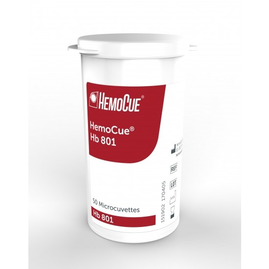 Hemocue cuvettes 801hb - 50 pieces