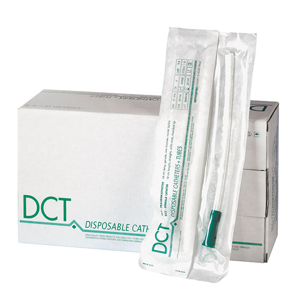 DCT women catheter - selection of 5 sizes - 50 pieces