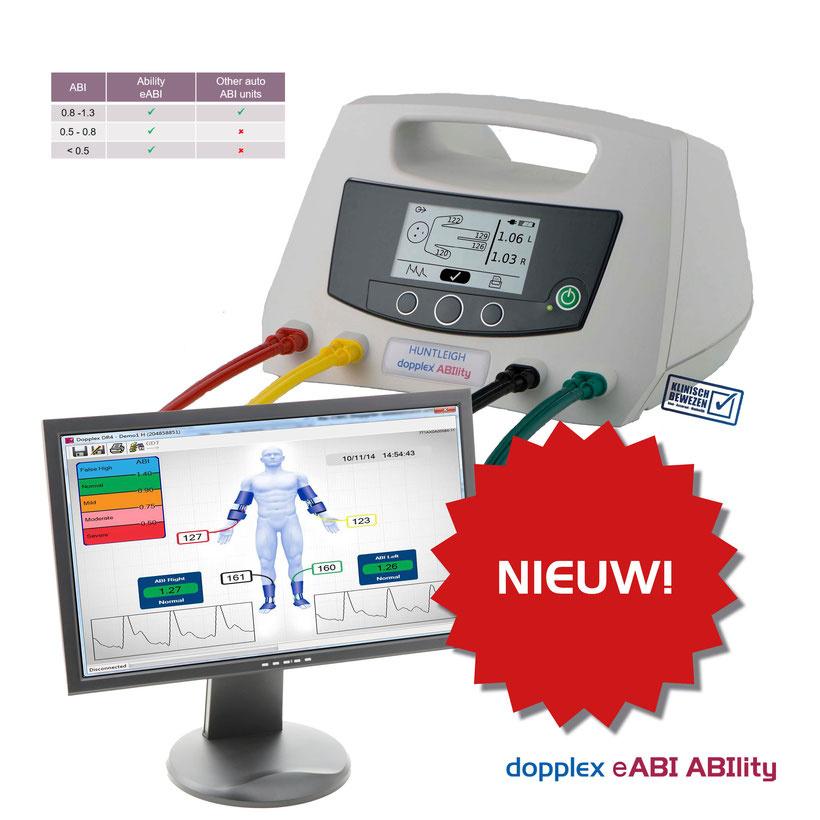 Huntleigh Ability automatische enkel-arm index meter compleet met 4 manchetten