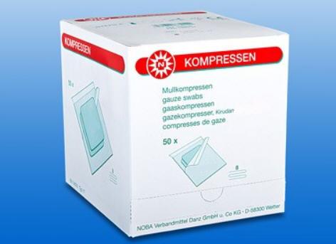 Gaascompres Noba 8lgs 7,5x7,5cm steriel, 50 stuks x 2