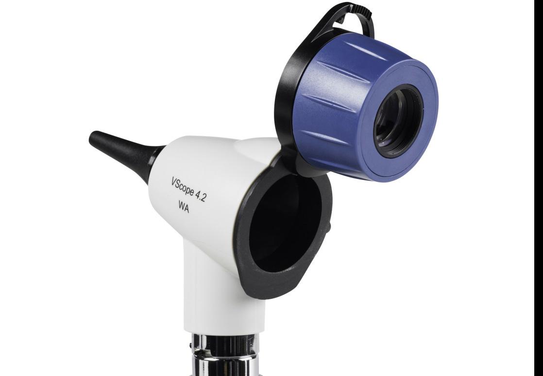 VScope LED Otoscoop Set - E Lithium oplaadbaar systeem
