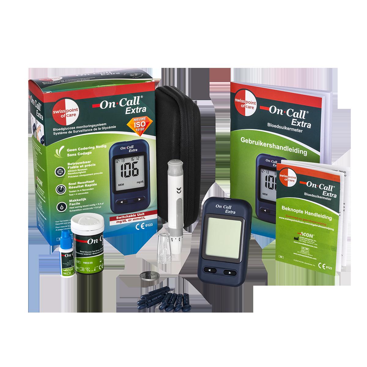 On Call® Extra Glukosemessgerät Starterpack (inkl. 10 Streifen)