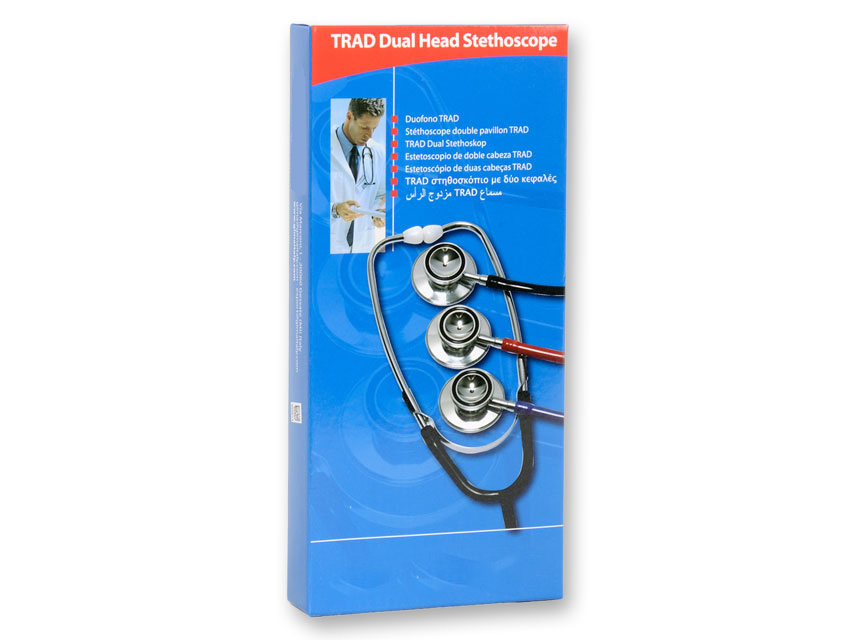 Traditional aluminum stethoscope, light and reliable