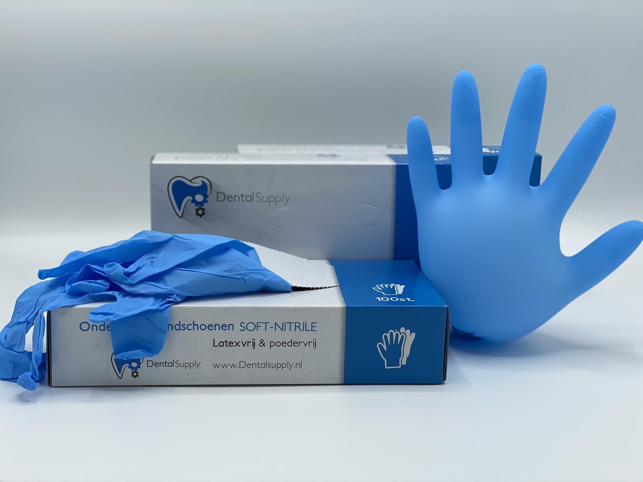 Handschoen Soft Nitrile PF, volledige certificering - small 100 stuks