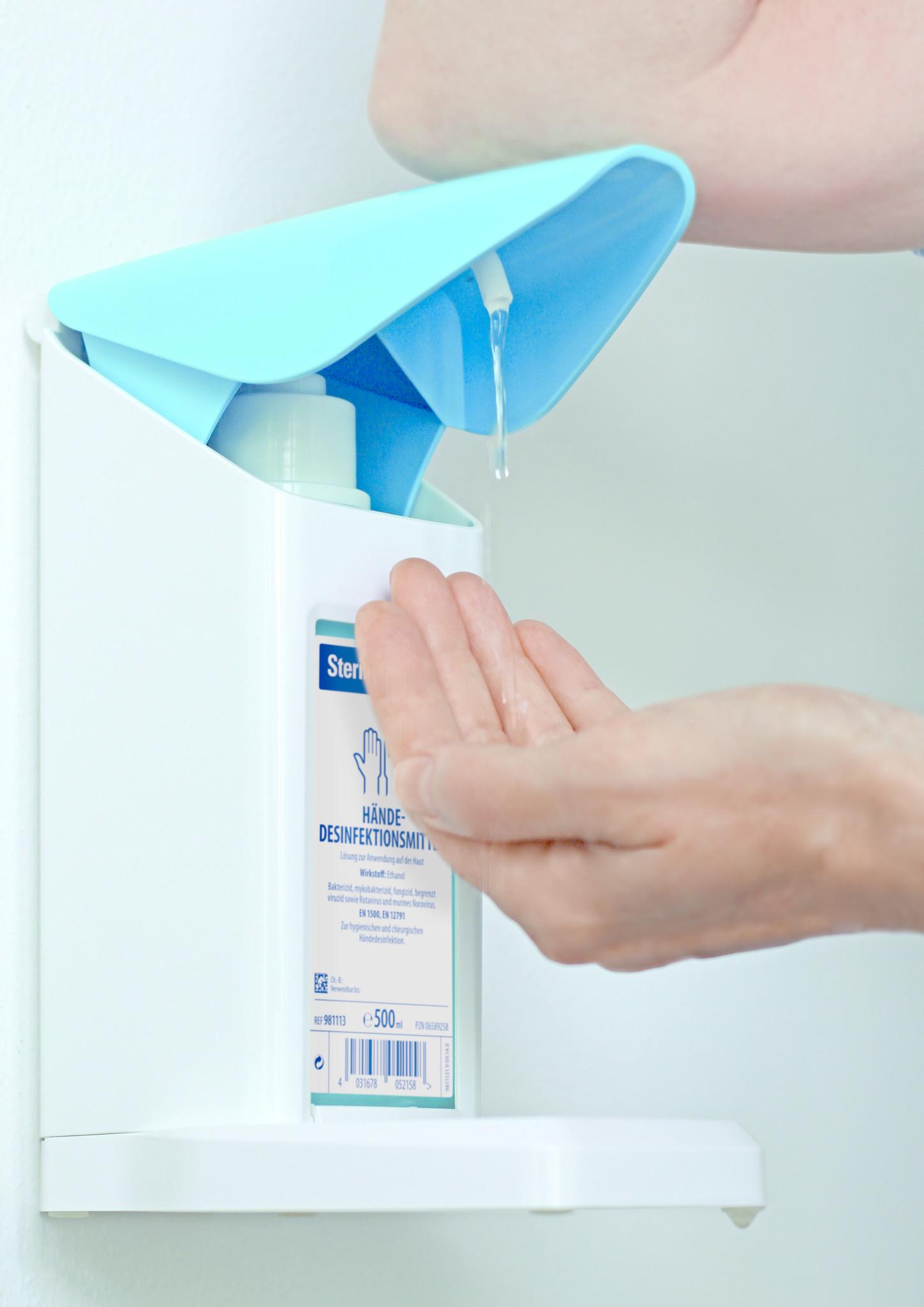 Dispenser Safety Plus voor BODE flacons (500 ml en 1000 ml)