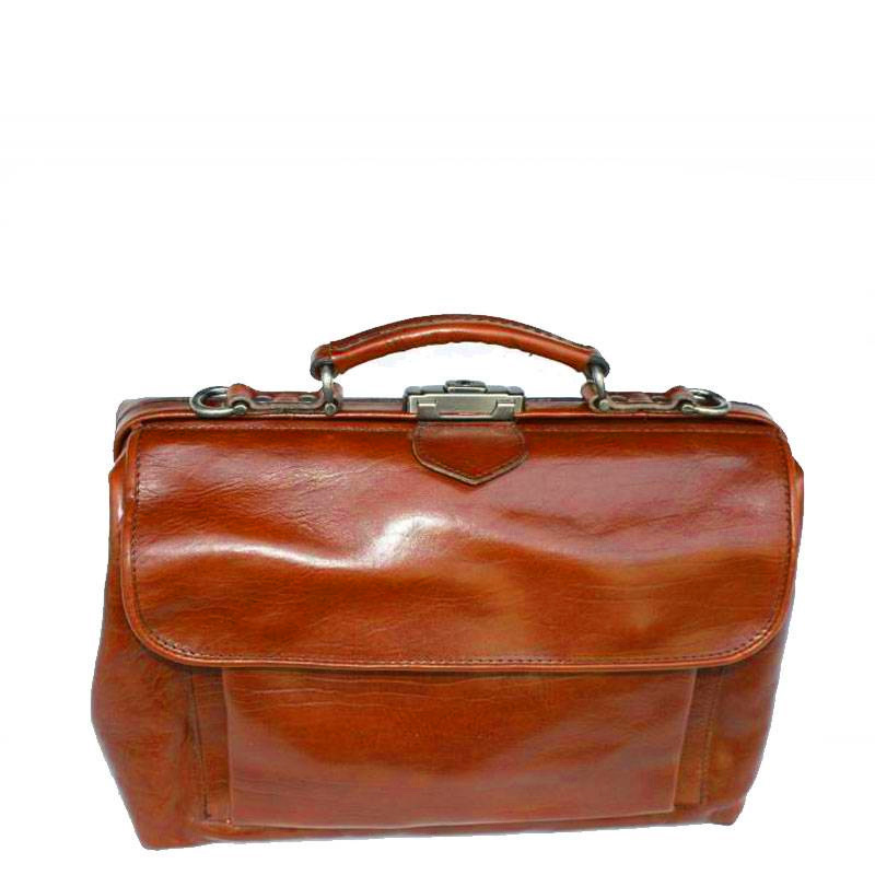 Mutsaers Leather Doctor's Bag - The Doctor - medium with front pocket