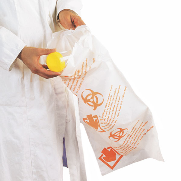Steriliseerbare afval- / laboratoriummonsterzakken Biohazard