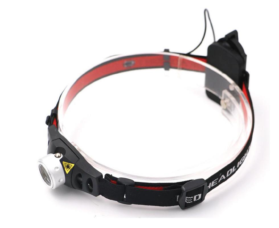 LED zoombare Stirnlampe - natürliches Weiß