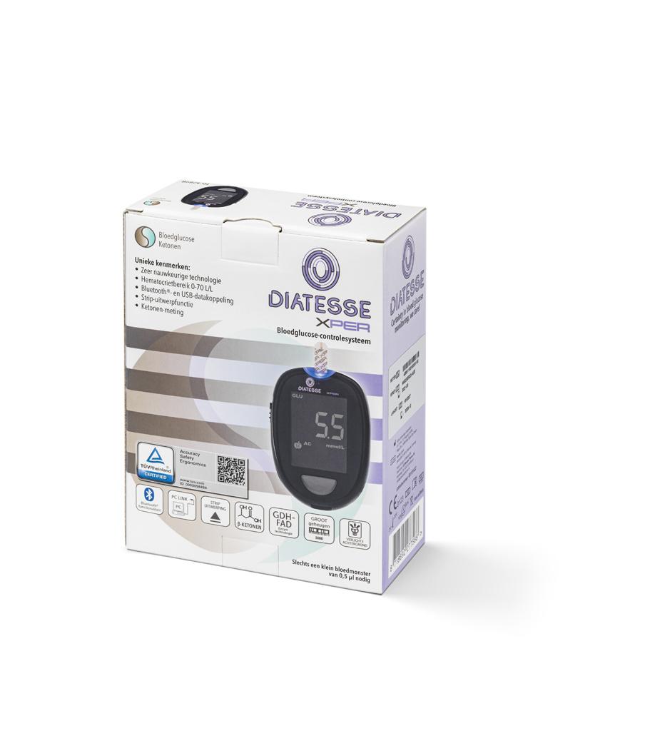 Diatesse XPER Startpakket - Glucosemeter & Ketonenmeter